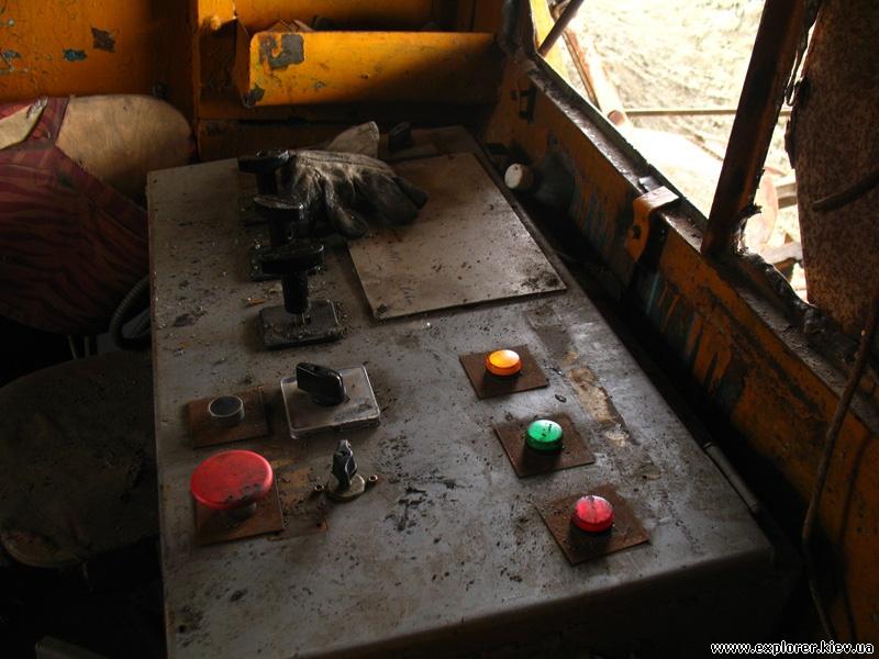 Элементы управления экскаватором