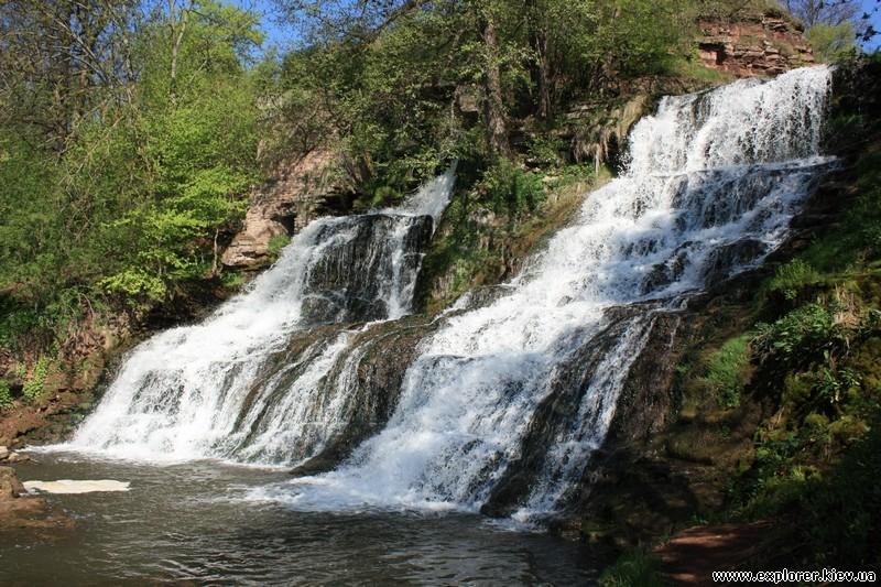 Рельеф водопада