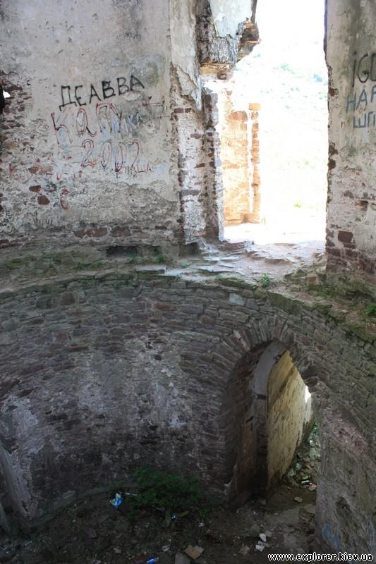 Надписи на стенах замка
