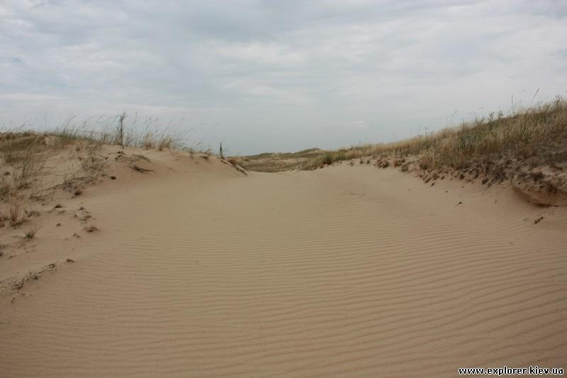Тут тоже песок