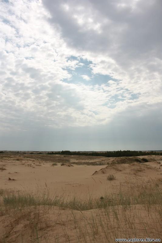 Вид издалека на пустыню