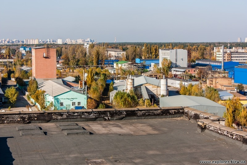 Вид с крыши корпуса