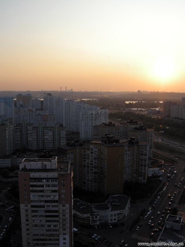 Закат над правым берегом Днепра